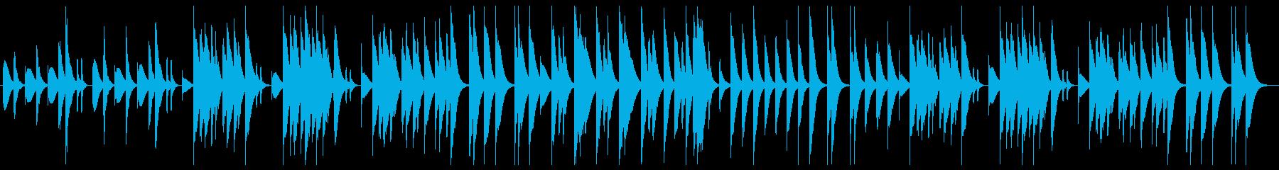 ほのぼのとしたマリンバの再生済みの波形