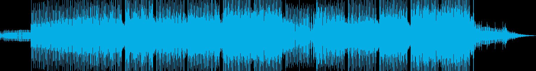 奇・化学実験シーンに溶け込むテクノの再生済みの波形