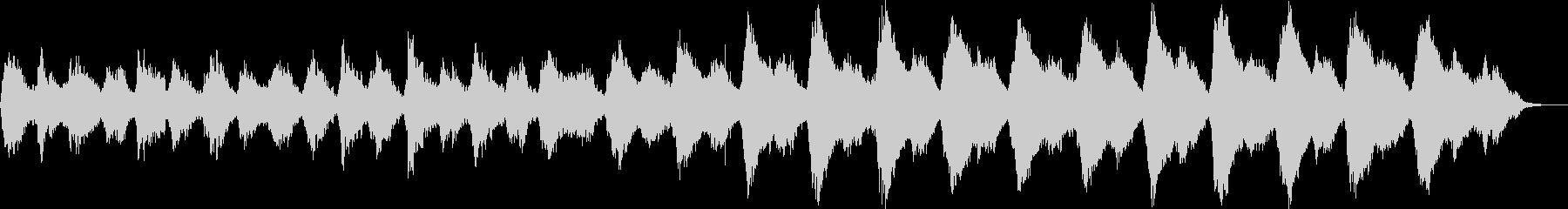 優しいサウンドのヒーリングミュージックの未再生の波形