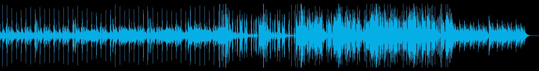 雄大な雰囲気の力強い曲の再生済みの波形