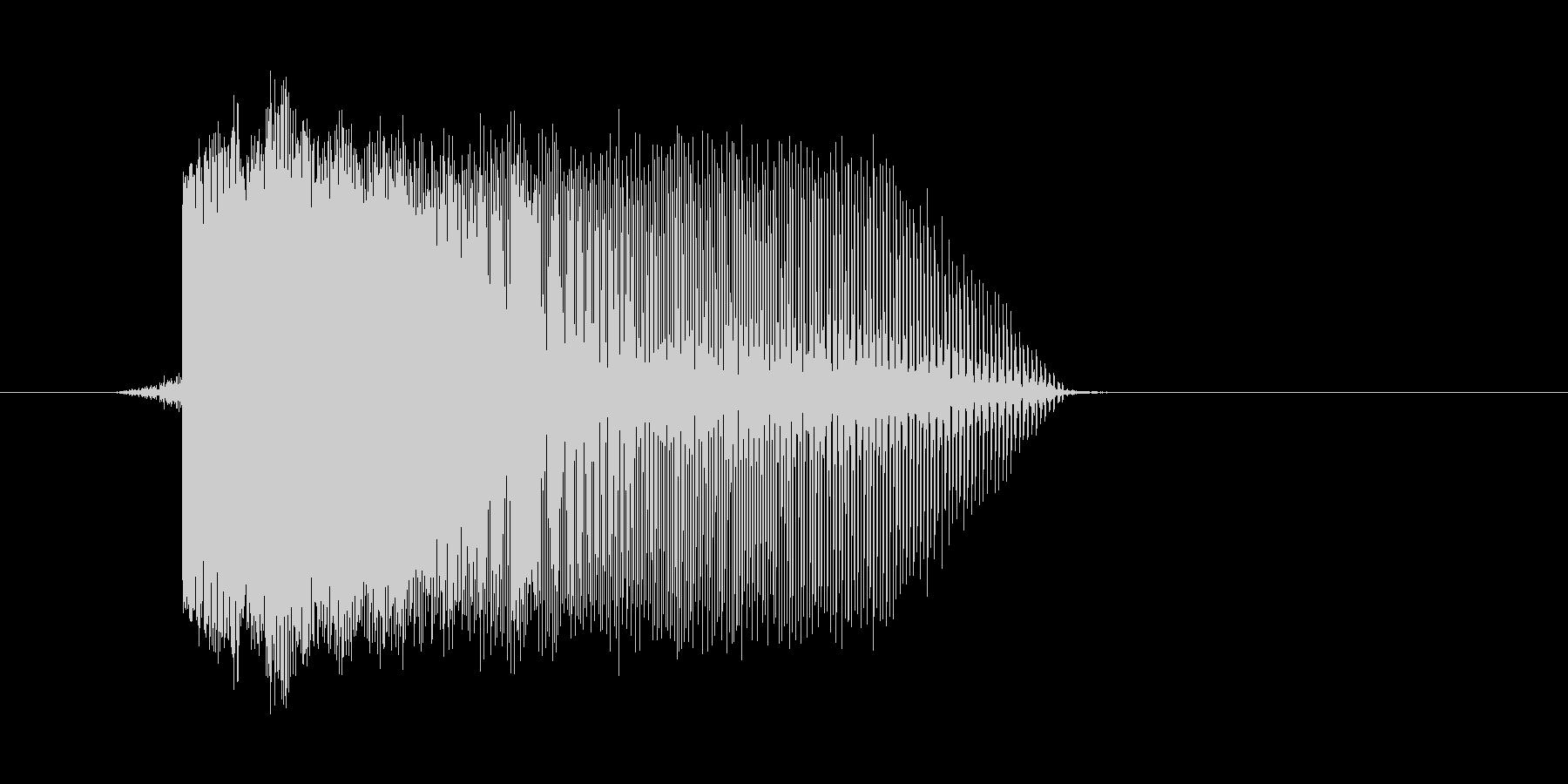 ゲーム(ファミコン風)レーザー音_050の未再生の波形