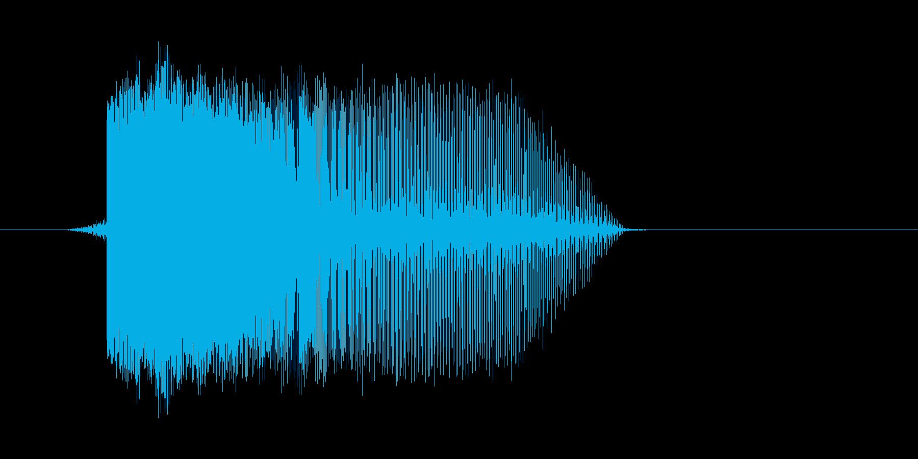 ゲーム(ファミコン風)レーザー音_050の再生済みの波形