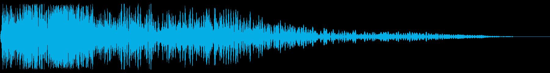 大規模なロック解除の再生済みの波形
