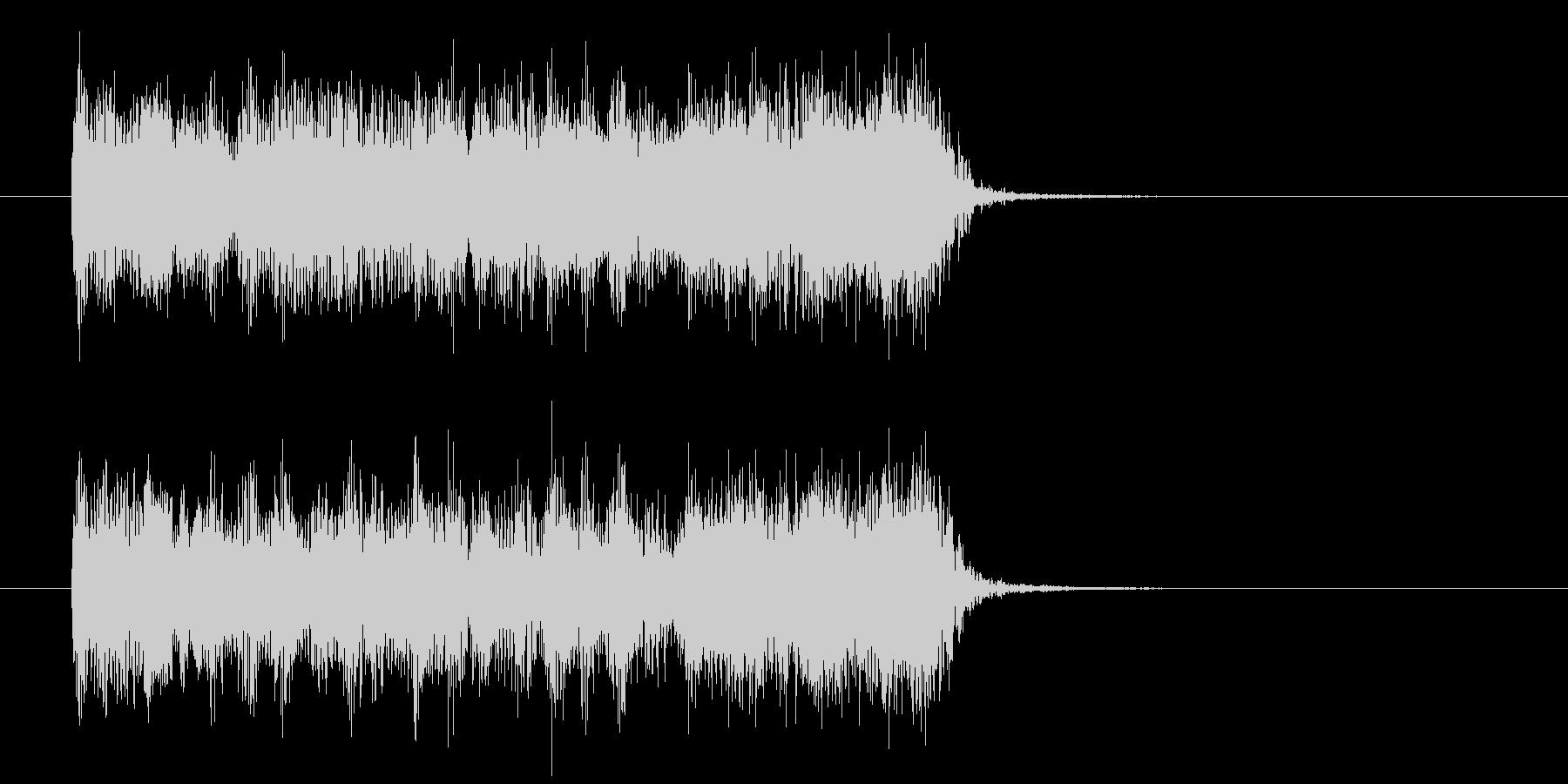 シンセサイザーによる疾走感のあるロックの未再生の波形