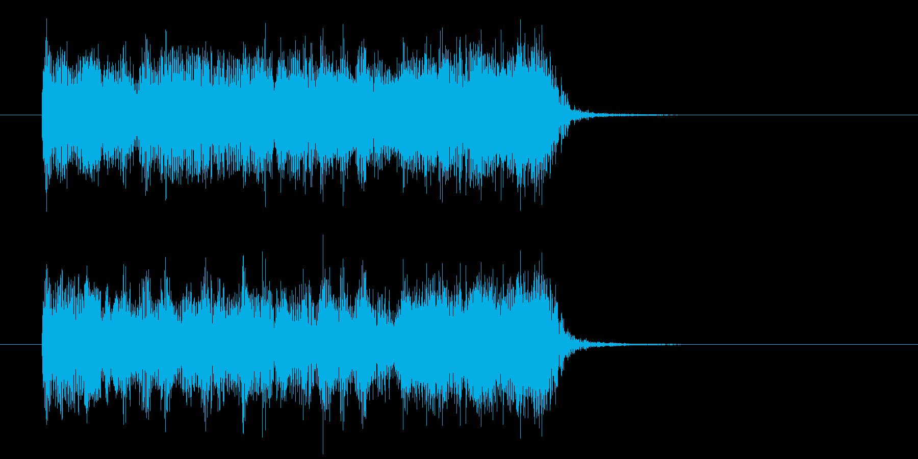 シンセサイザーによる疾走感のあるロックの再生済みの波形