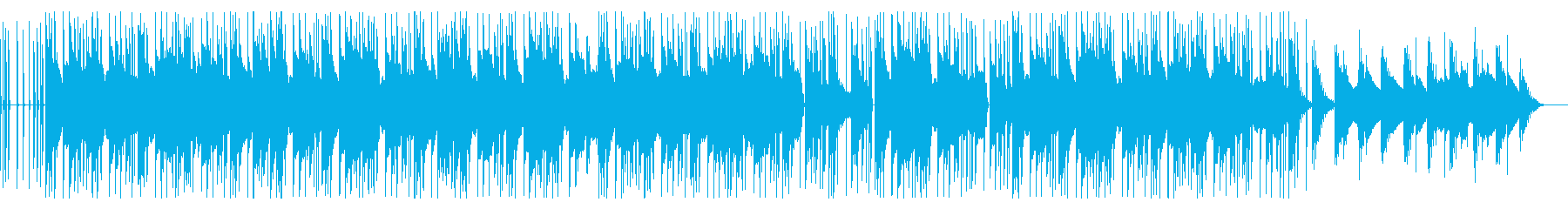 メロウでリラックスしたエレピ主体の曲の再生済みの波形