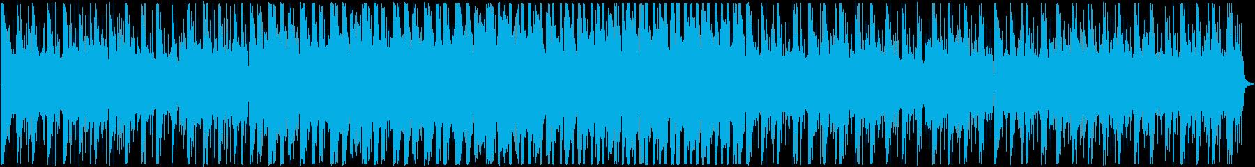 背景をポップします。の再生済みの波形
