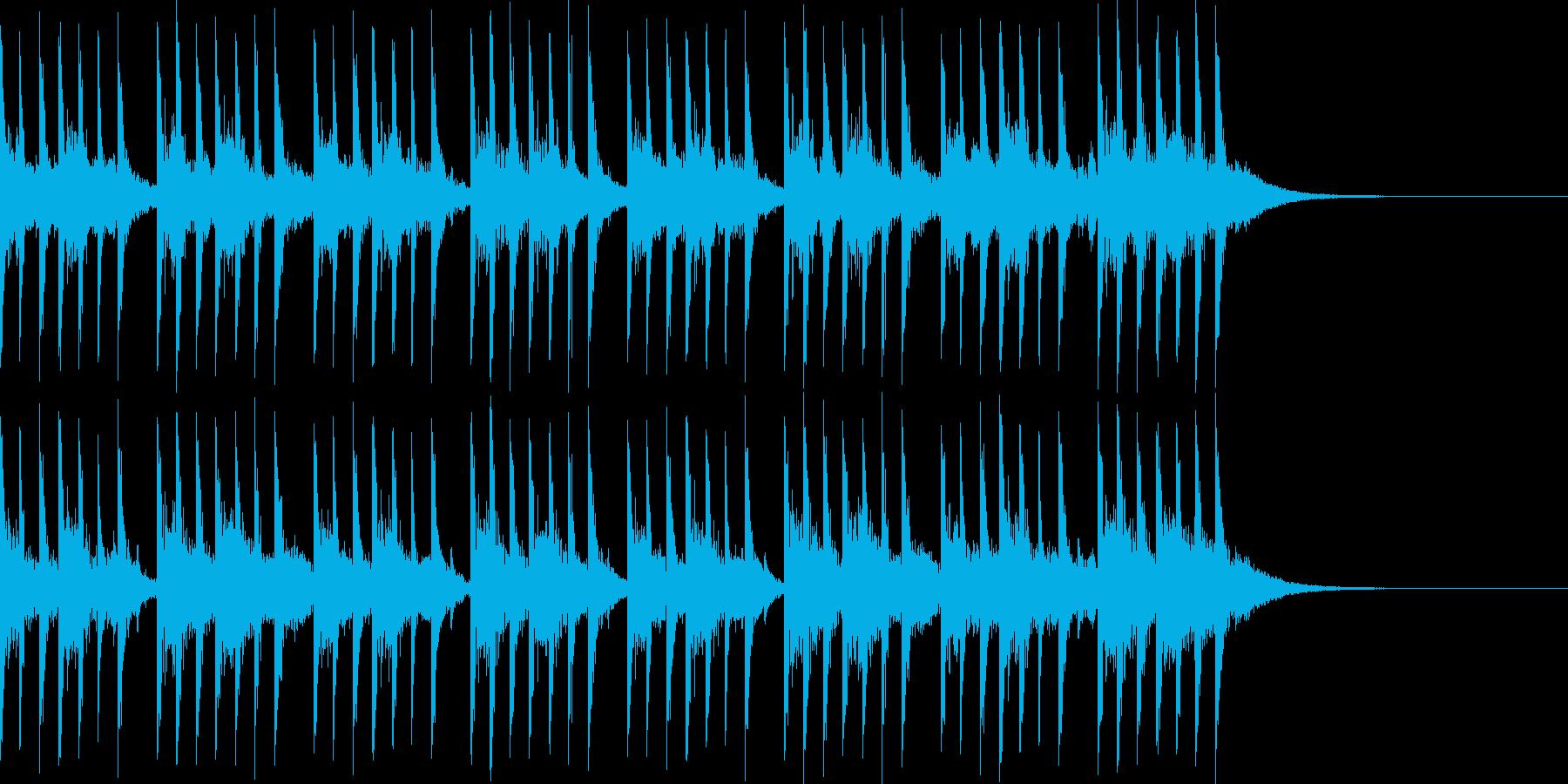 80年代風の明るいテクノポップジングルの再生済みの波形