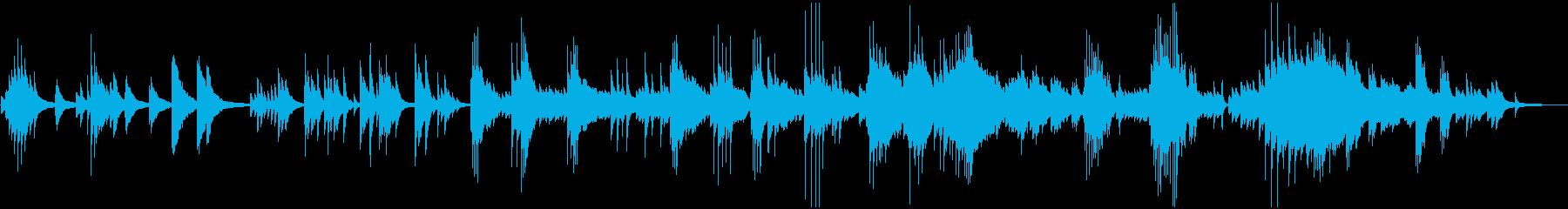 ドラマチックな展開のピアノバラードの再生済みの波形