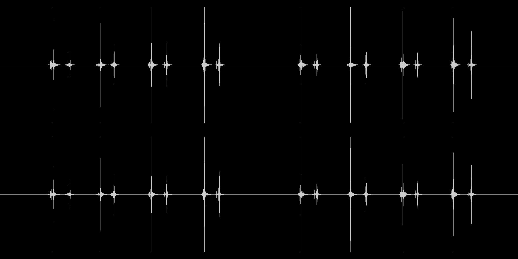 【録音】数取器(カウンター)のカウント音の未再生の波形