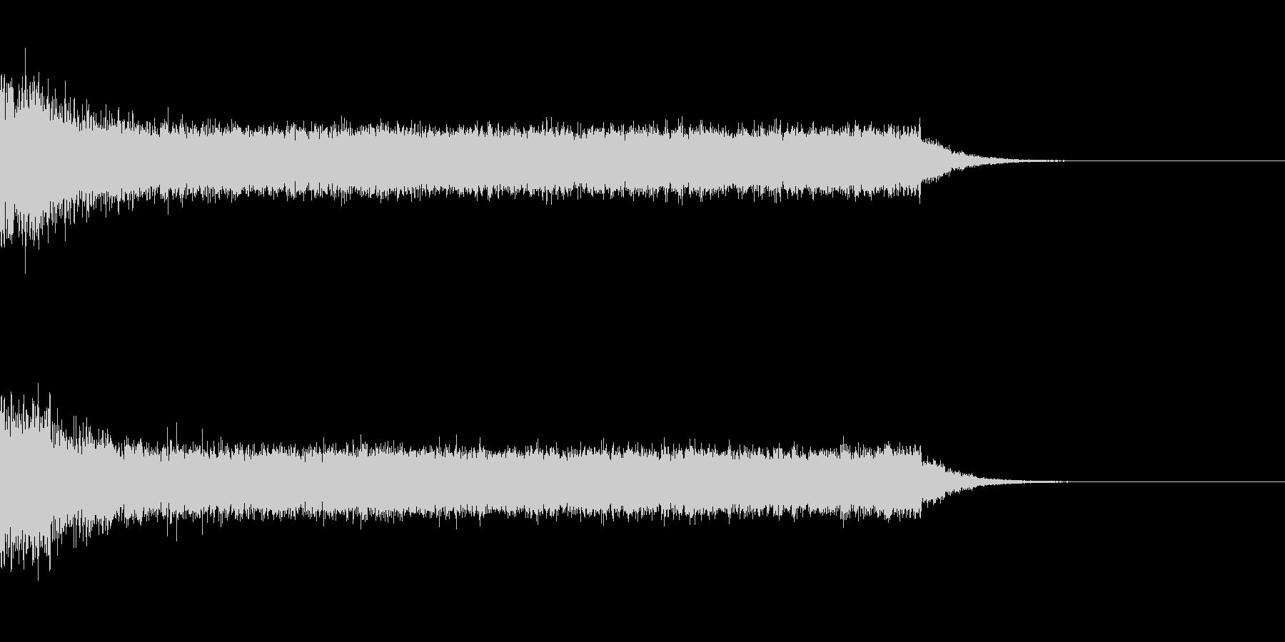 戦闘機が発進する時の音の未再生の波形