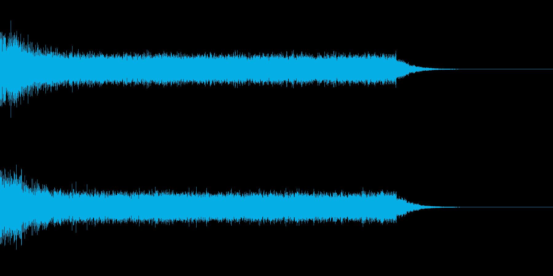 戦闘機が発進する時の音の再生済みの波形