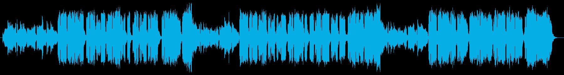 モンゴル民族楽器バウーとアカペラの掛け合の再生済みの波形