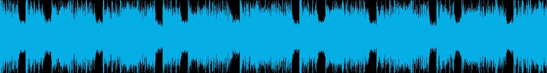 緊迫した重めのロック Dパートループの再生済みの波形