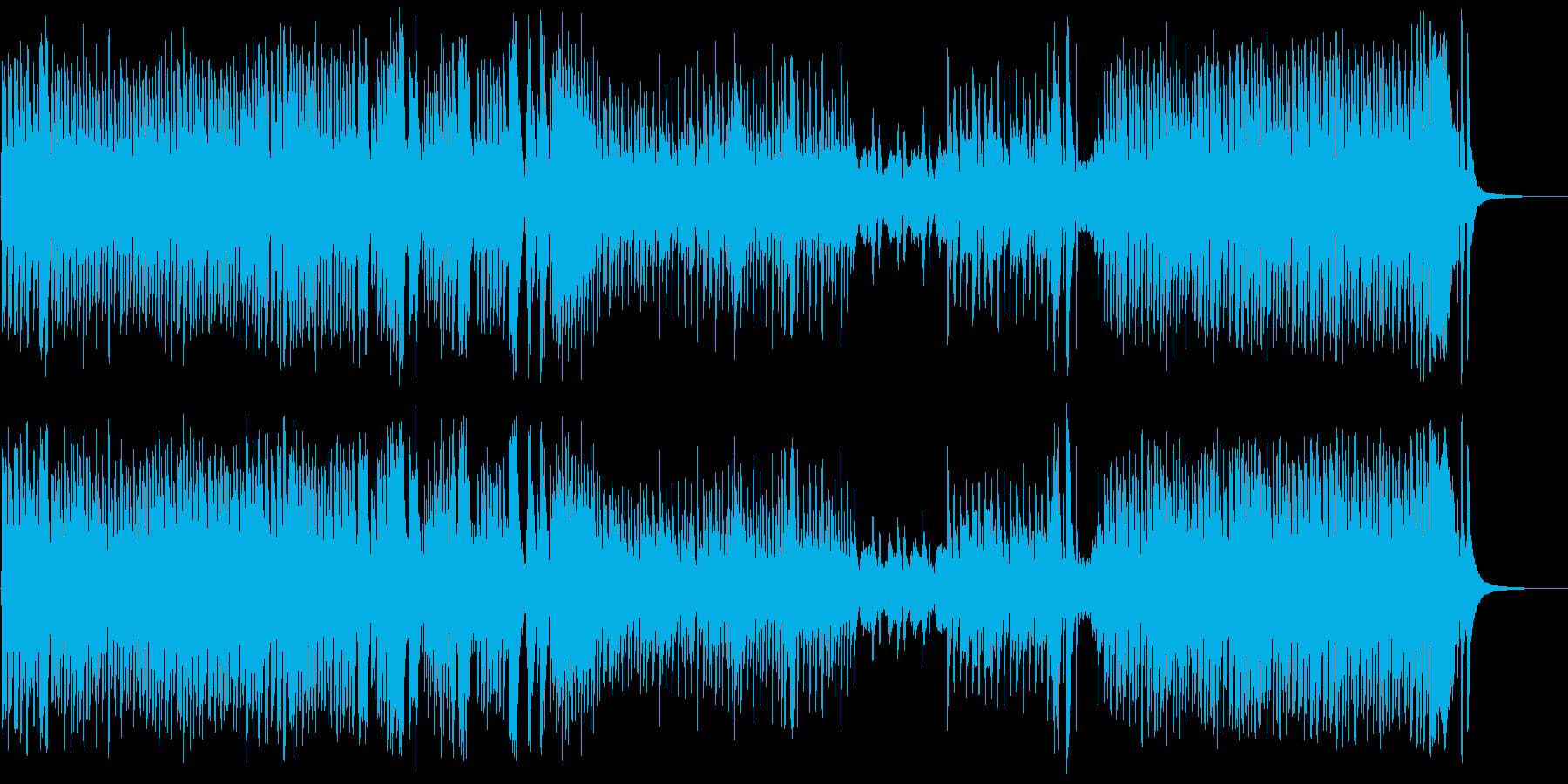 明るく楽しく少し奇妙でポップな曲の再生済みの波形