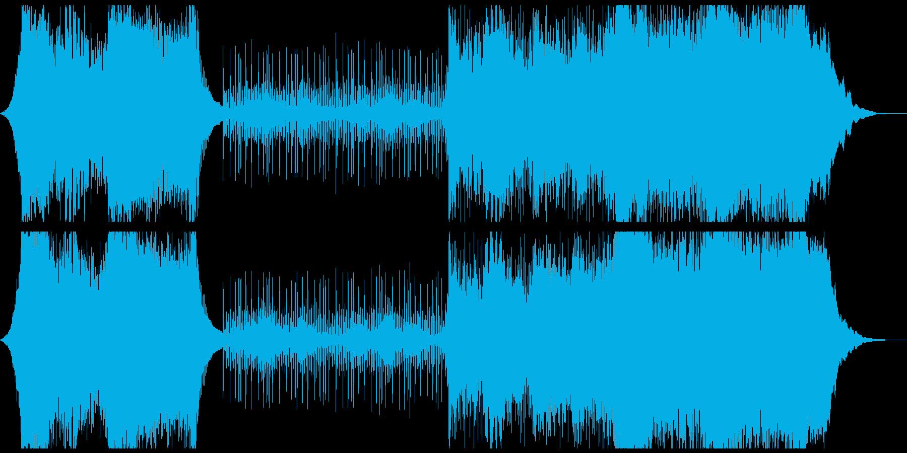 ハリウッド風オーケストラの再生済みの波形
