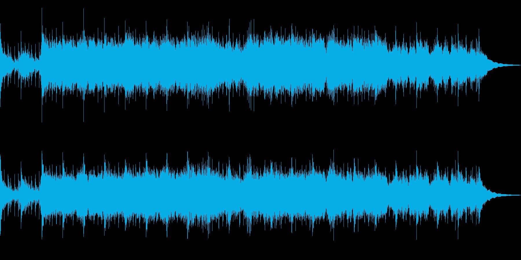 和風でおおらかなイメージのBGMの再生済みの波形