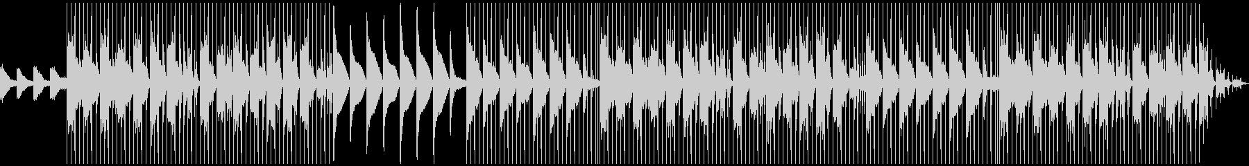 ピアノを使った神秘的な朝のLo-Fiの未再生の波形