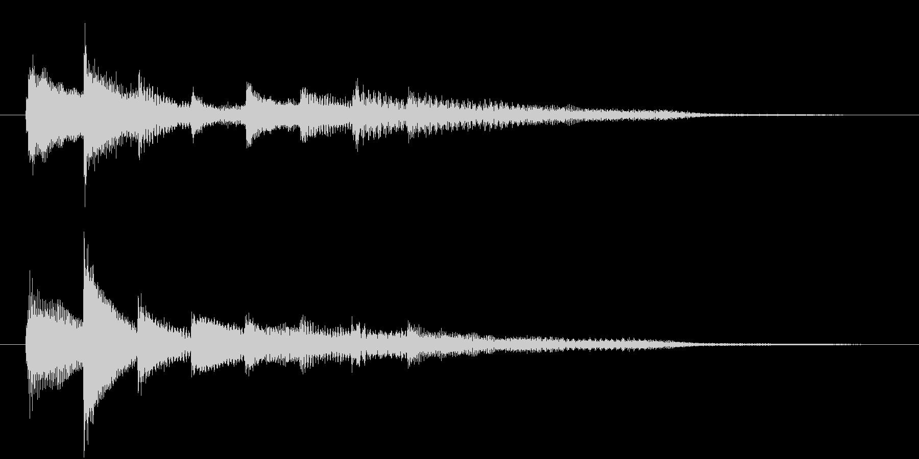 ピアノ転回音6の未再生の波形