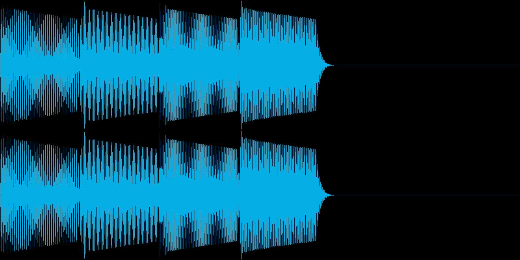 ピロリラ(決定、スタート、アイテム)の再生済みの波形