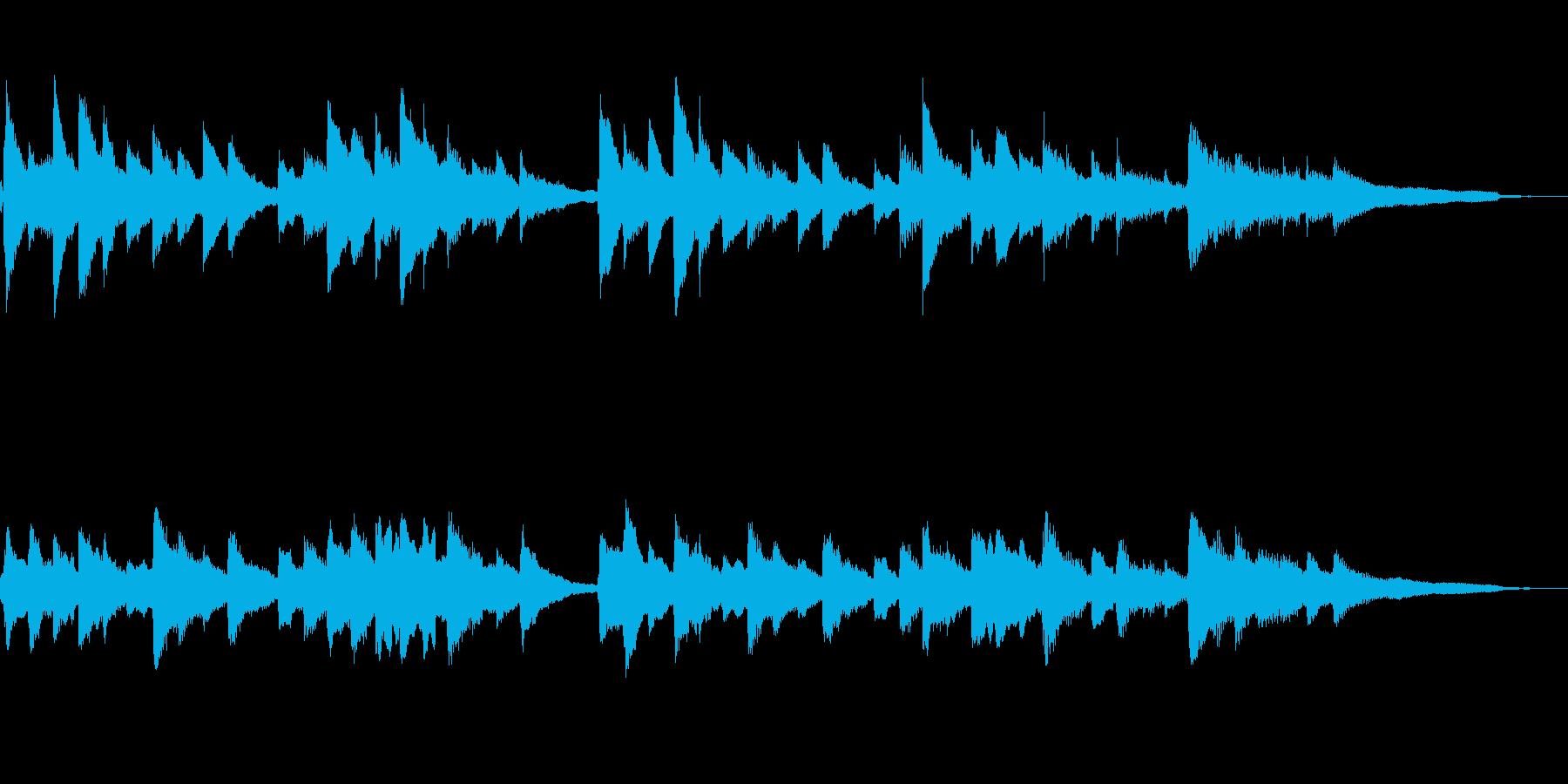ゲームオーバー・回想時の悲しいピアノの再生済みの波形