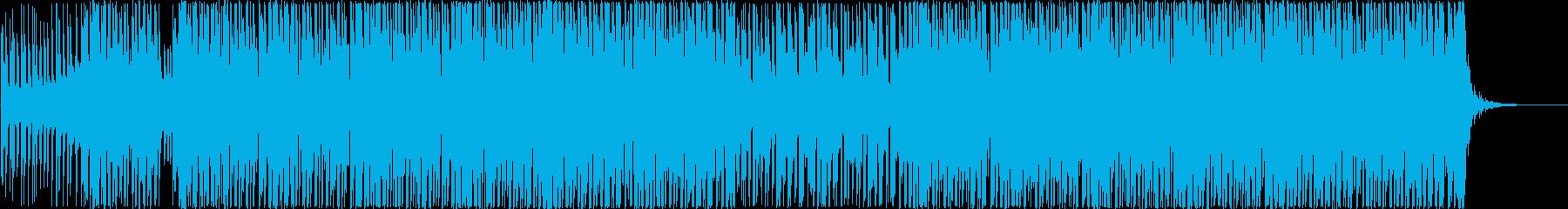 ウキウキ楽しくテンションが上がる明るい曲の再生済みの波形