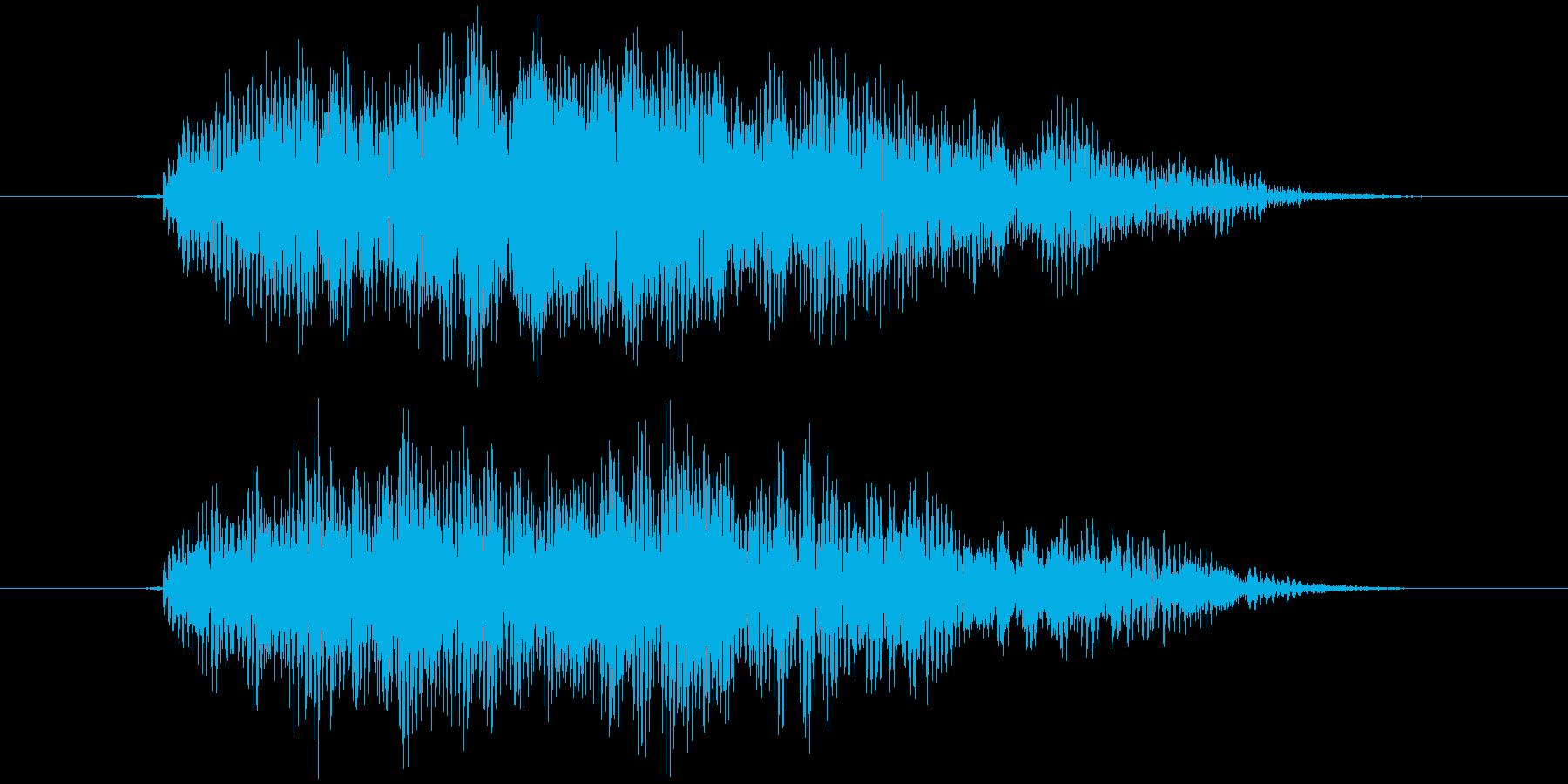 おもちゃの笛 (押す、潰す) ピィーの再生済みの波形