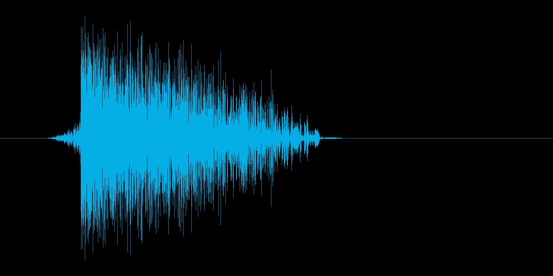 ゲーム(ファミコン風)爆発音_021の再生済みの波形