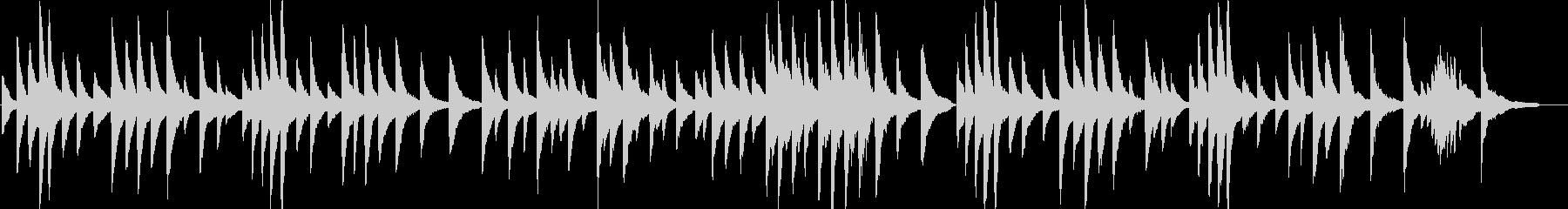 ピアノがメインの穏やかなバラードBGMの未再生の波形