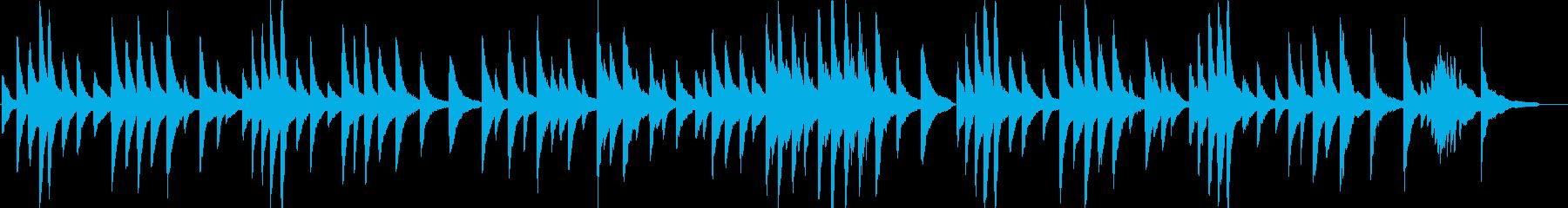 ピアノがメインの穏やかなバラードBGMの再生済みの波形