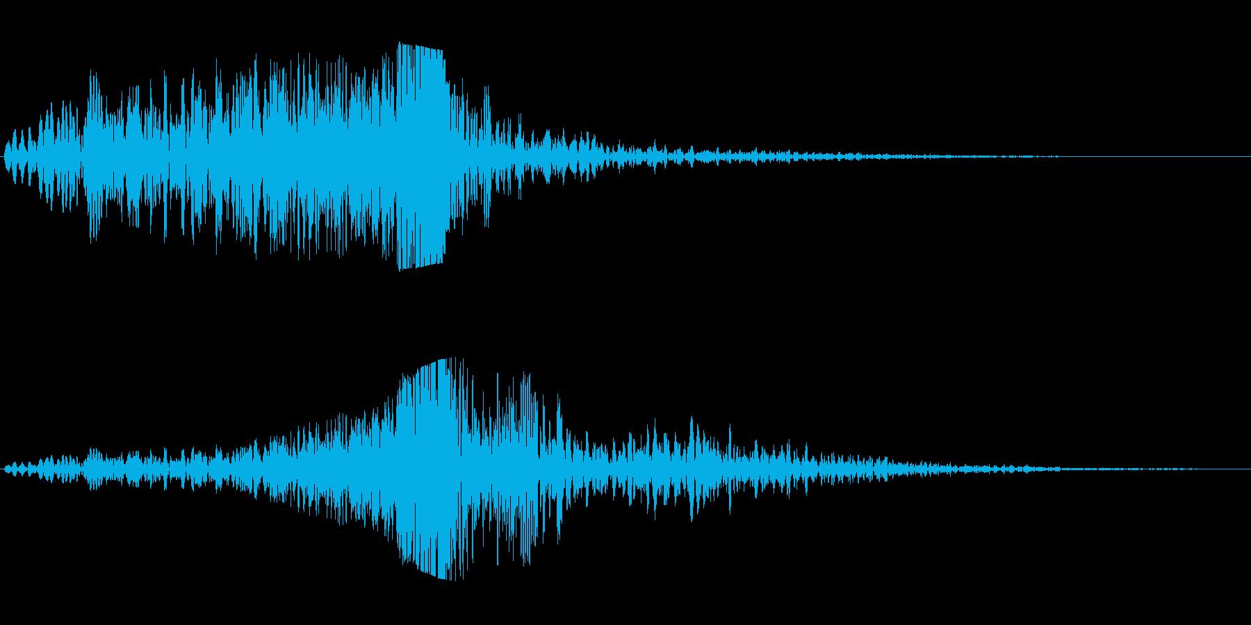 シュイビシューン(風の音)の再生済みの波形