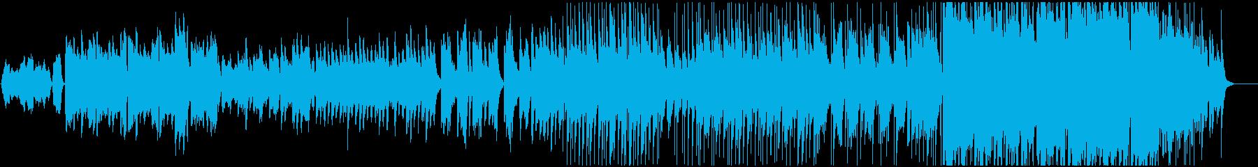 結婚式のクライマックをイメージしたBGMの再生済みの波形