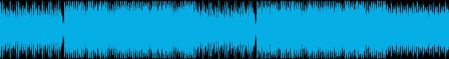 楽しい雰囲気のラジオフリートークBGMの再生済みの波形