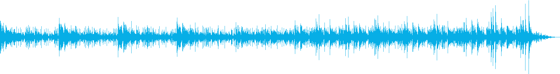 ウクレレで南の島のイメージの再生済みの波形