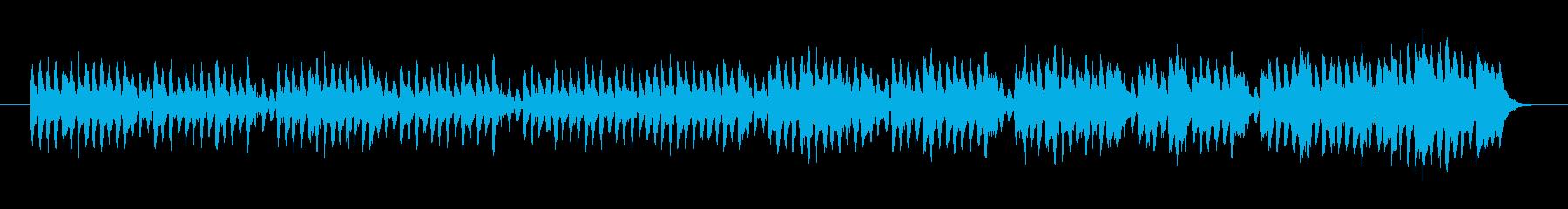 癒される静かなポップスの再生済みの波形