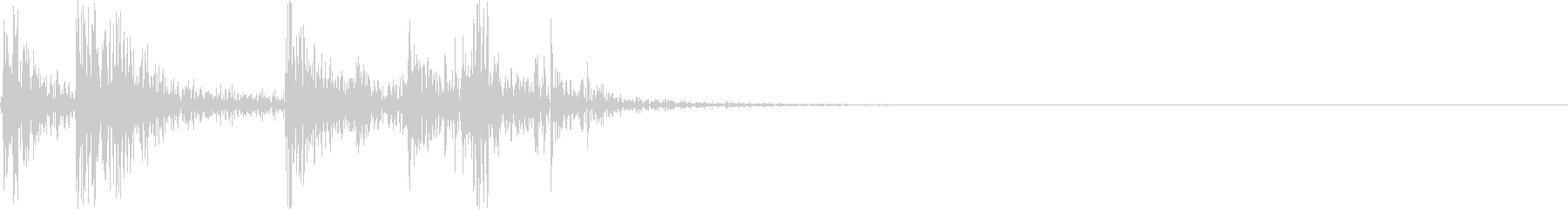 カチャ!(鍵をかける音)の未再生の波形