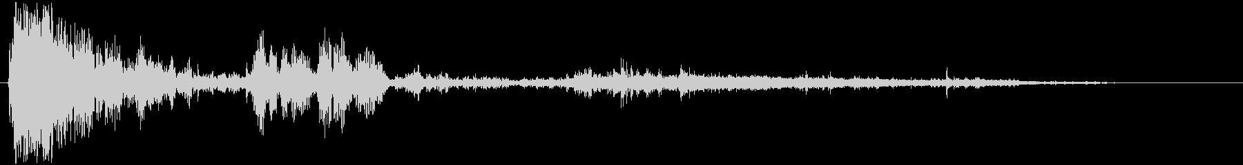 メタリックパイルアップの未再生の波形