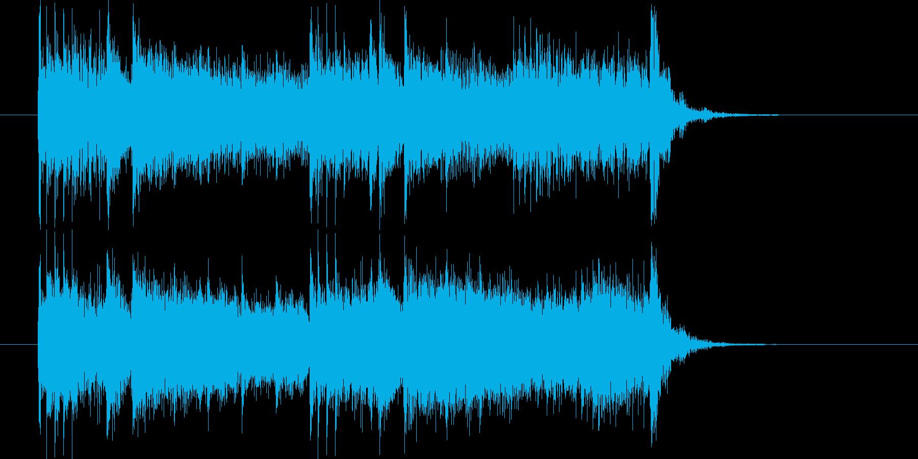 勢いのあるリズムのポップスによるジングルの再生済みの波形
