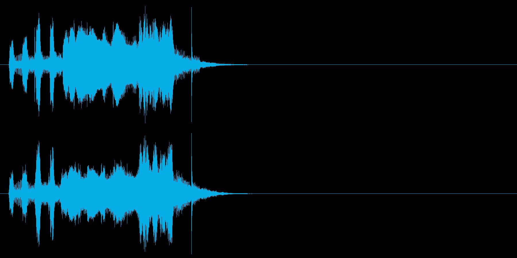 コミカル・タッチジングルの再生済みの波形