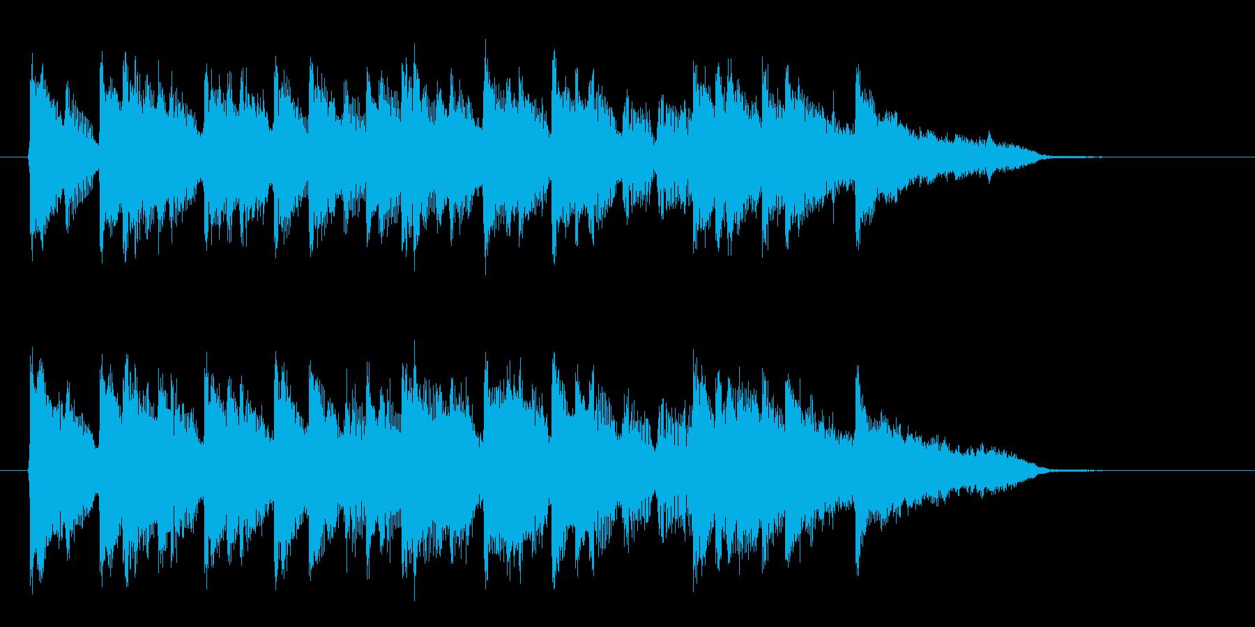 ゆったりとしたリラクゼーション音楽の再生済みの波形