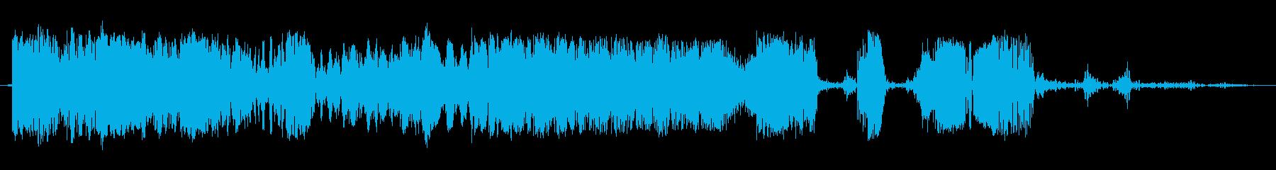 スクラッチカットトランジション1の再生済みの波形