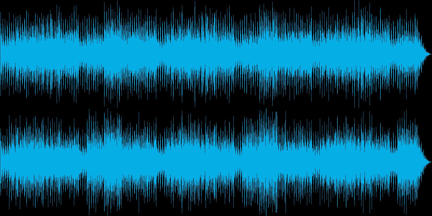アイリッシュやケルト風の雑多な民族音楽の再生済みの波形