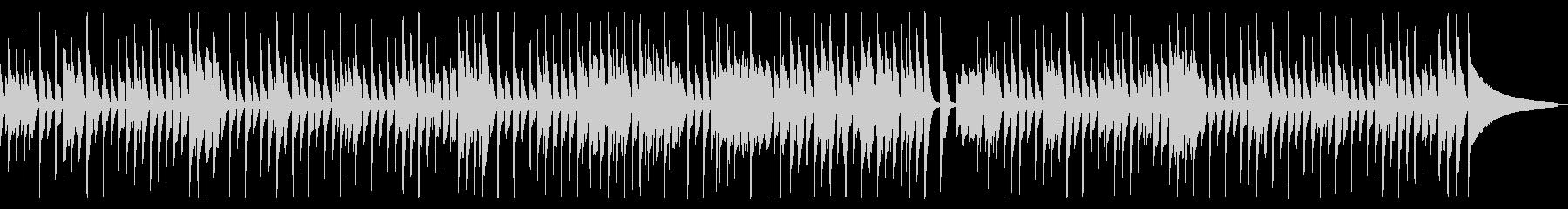 子猫が遊ぶ様子を描いた軽快なピアノバンドの未再生の波形