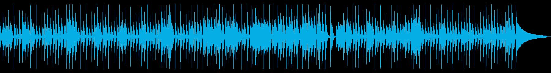 子猫が遊ぶ様子を描いた軽快なピアノバンドの再生済みの波形
