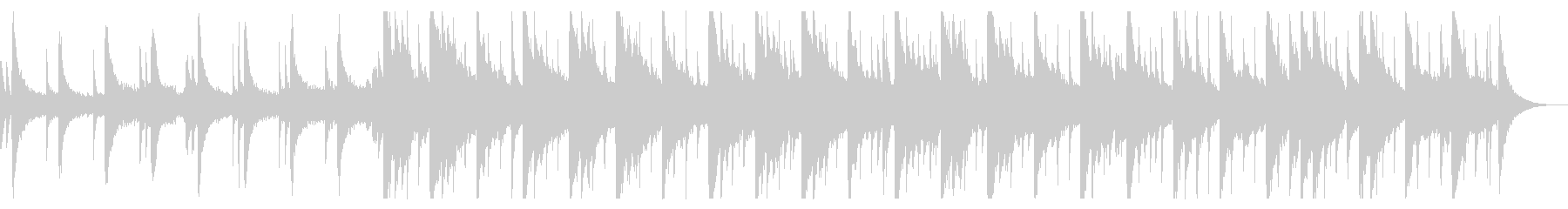 卒業をイメージしたピアノBGM_3の未再生の波形