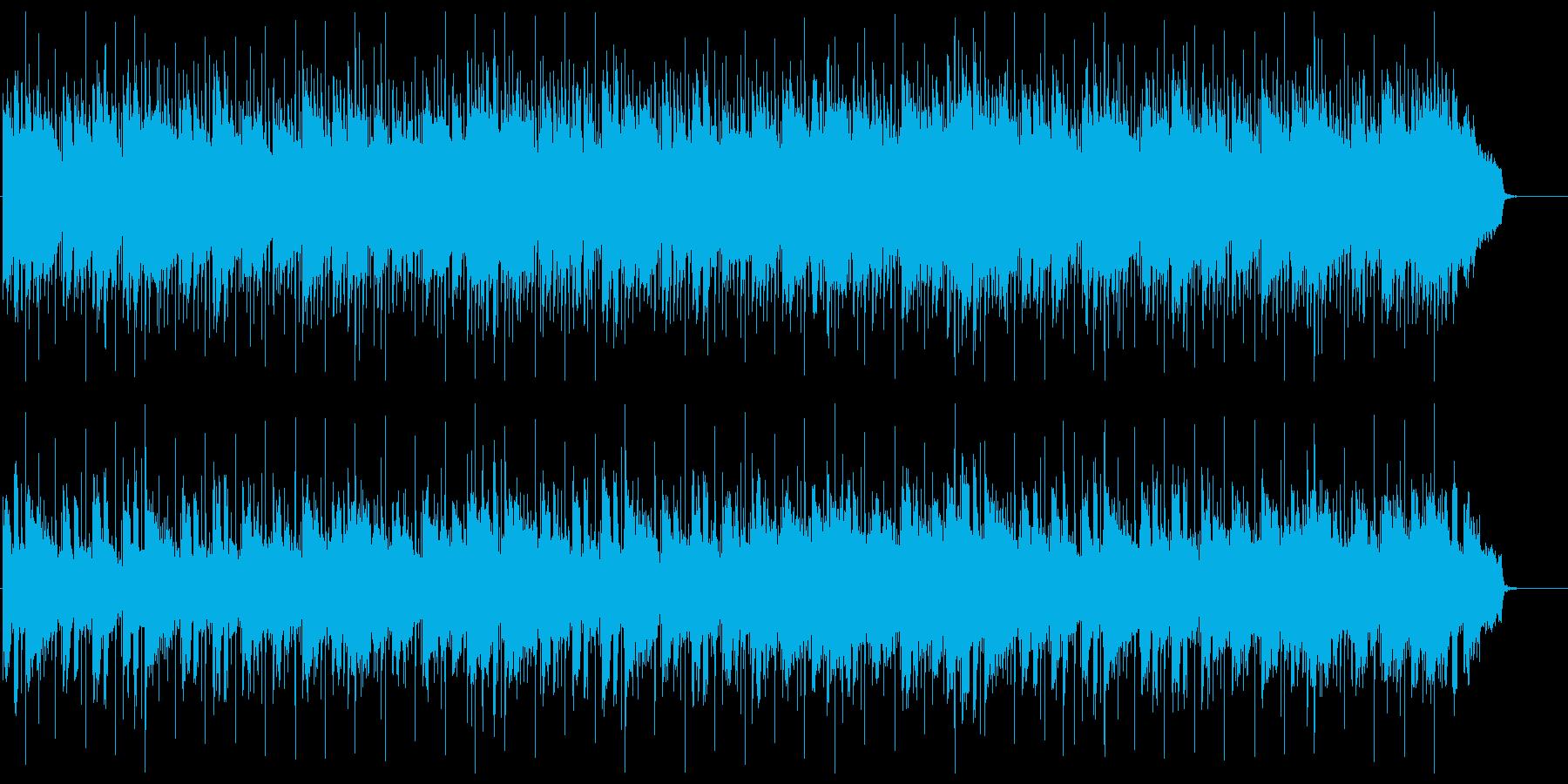 緩やかでまろやかなリラクゼーションBGMの再生済みの波形