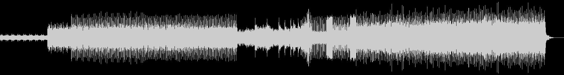 和楽器を使用しない和風のハードコアテクノの未再生の波形