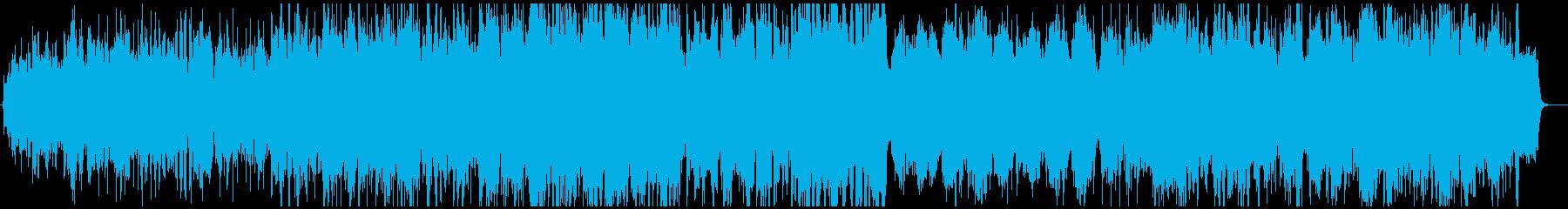 感動的な弦楽オーケストラと情熱的な流れるの再生済みの波形