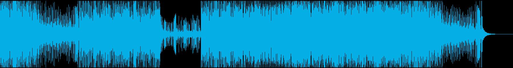 挑戦、冒険的なテクノサウンドの再生済みの波形