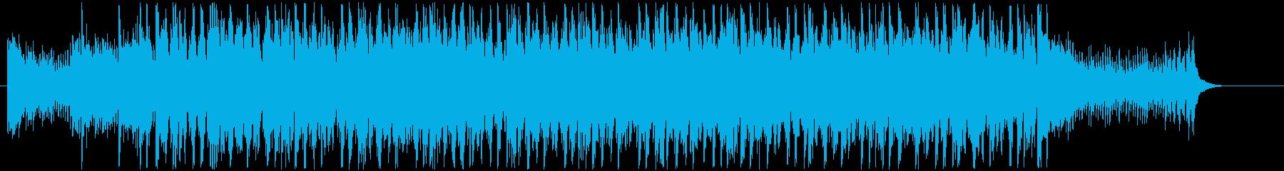 ミニマルなマリンバとストリングスの刻みの再生済みの波形